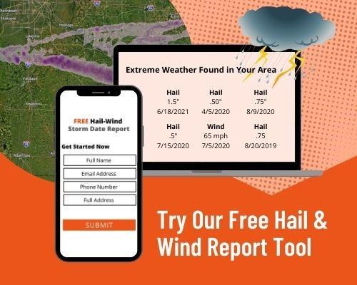 June 17th Storm Swath with NMCs storm report information