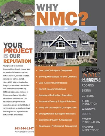 Contact NMC for Roof and Exterior Assessments