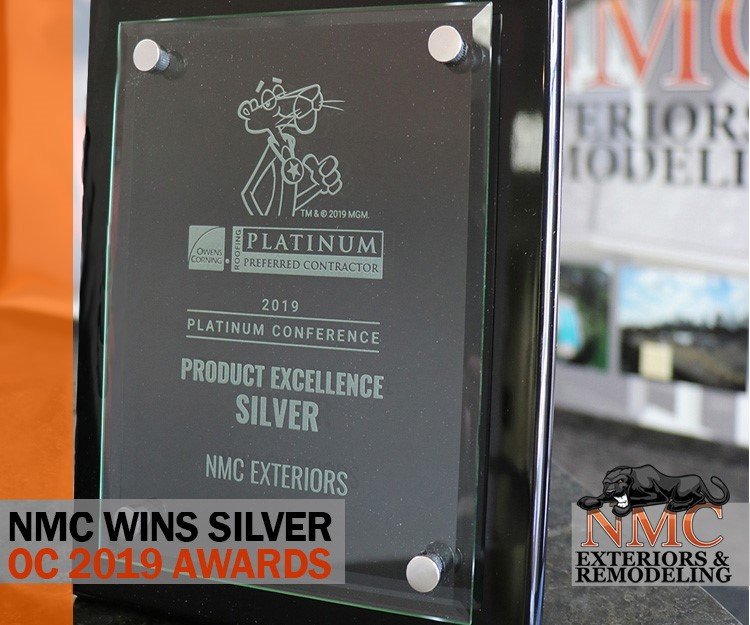 "NMC Exteriors Receives ""Product Excellence Silver"" Award at the OC 2019 Platinum Conference"