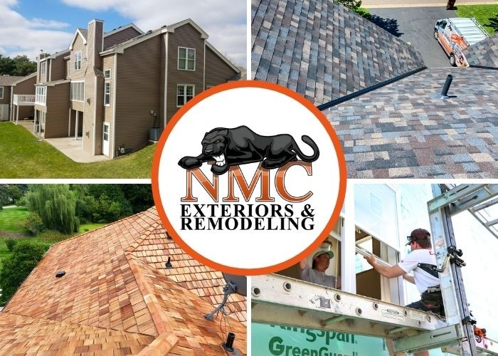 Exterior roofing, siding, and windows.