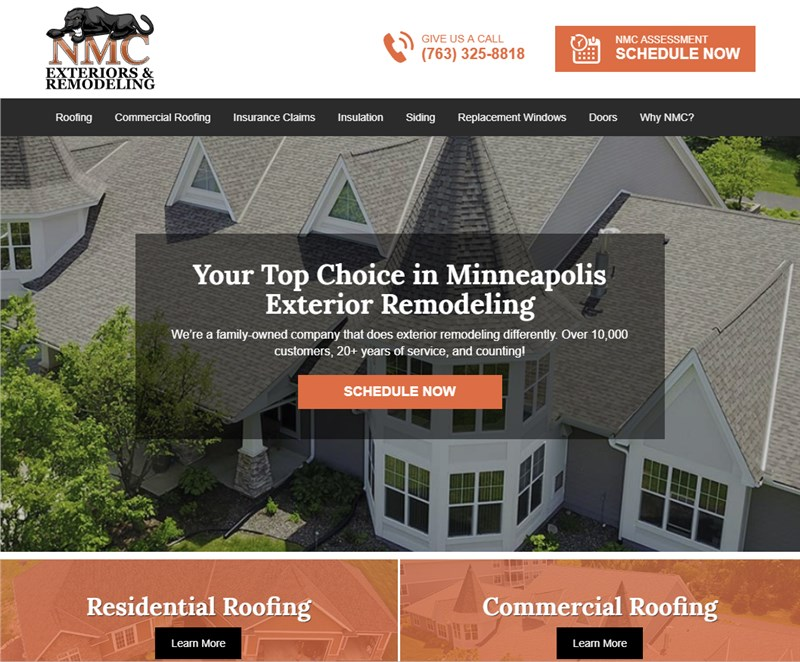 NMC Exteriors Launches New 2019 Website