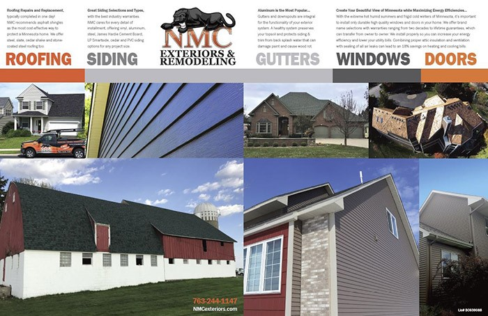 NMC's Services: Roof, Siding, Gutters, Windows and Doors