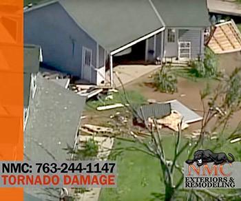 Tornado Damage to Dairy Farm in Carver County MN