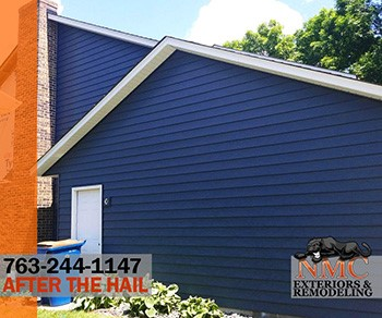 Steel Siding Replacement by NMC in Classic Blue