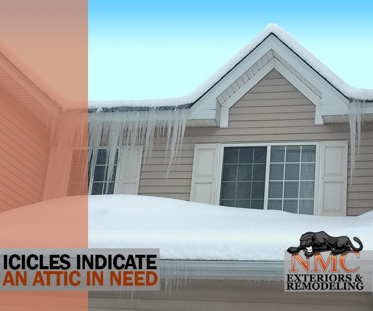 Icicles Ice Dam Indicate Roofing System Repair Alert
