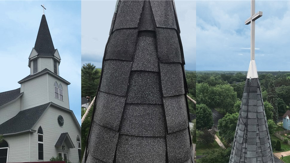 Steeple Repair by NMC at Living Branch Church