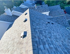 Owens Corning Duration Driftood Shingle update on the Windemere Townhomes in Burnsville, Minnesota.