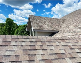 Rooftop view of our Owens Corning Duration Driftwood Shingle
