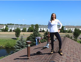 NMC's President Molly on Multi-Family Rooftop; Inspecting in Maple Grove