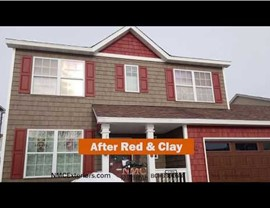 Clever Color Use of Vinyl Siding in Red, Teak and Pebblestone Clay