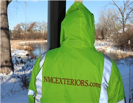 NMC's Siding Crews are active all year, every month, even wintertime!