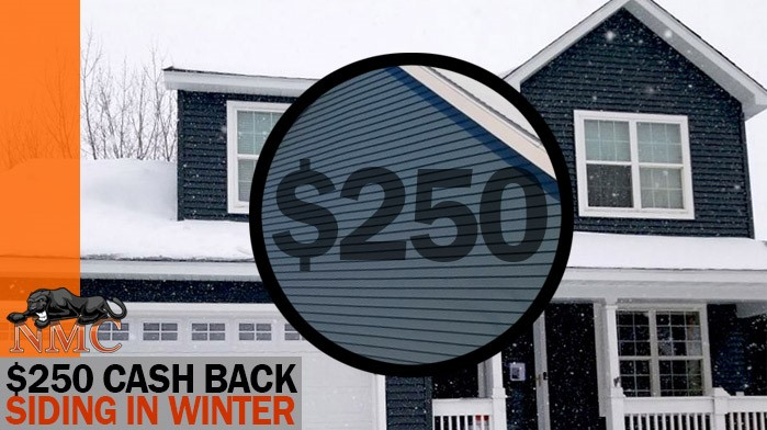 Earn $250 Cash Back for a New Siding Project in Wintertime