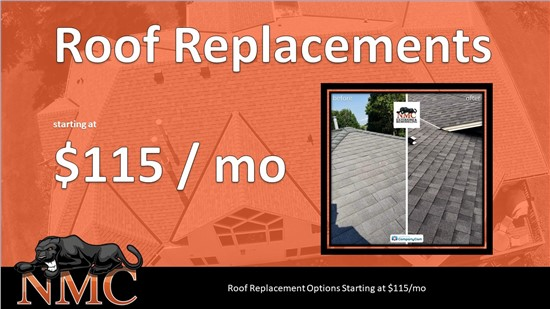 Roof Replacements Starting at $115/mo