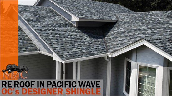 NMC is installing 2020's Shingle Color of the Year: Pacific Wave