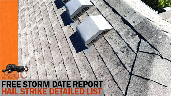NMC can help with next best steps if your storm report has a date correlating to incurred damage