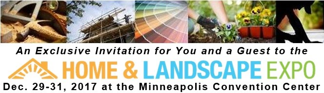 Two Tickets to the Minneapolis Home & Landscape Expo