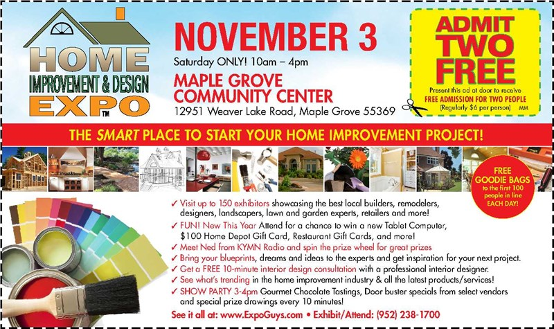 Maple Grove Home Improvement & Design Expo - This Weekend