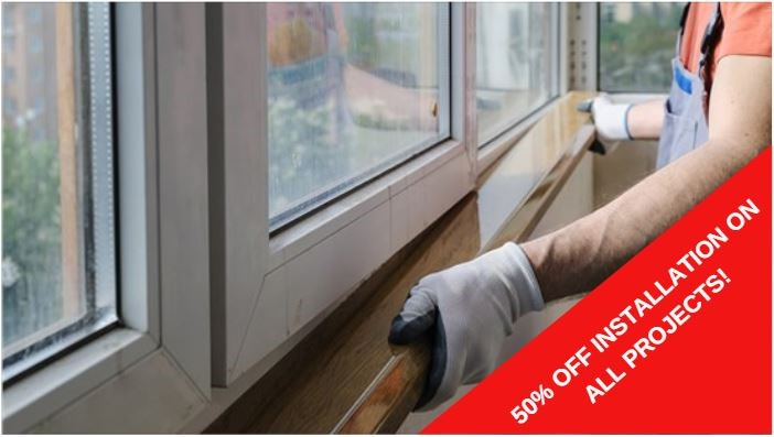 50% OFF INSTALLATION ON ALL PROJECTS!