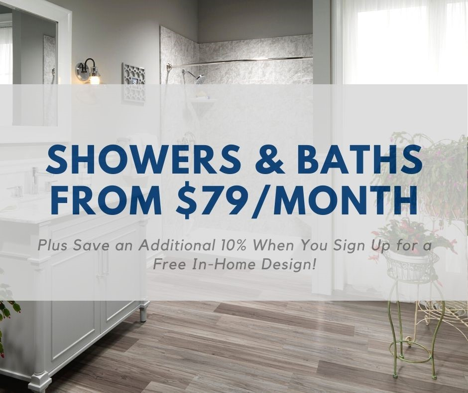 bath remodels from $79/mo
