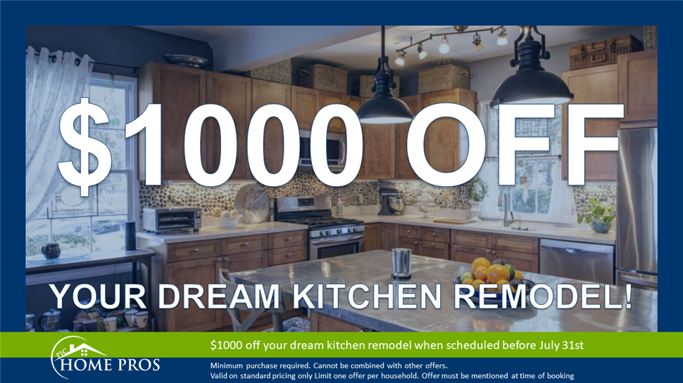 Take $1,000 Off of Your Dream Kitchen Remodel