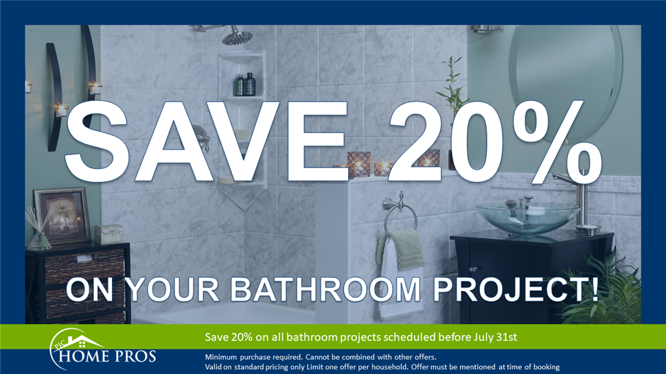 20% Off Your Bathroom Remodeling Project