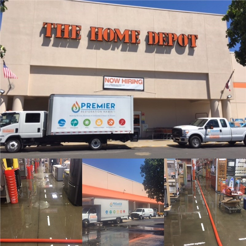 Premier in the news - The Home Depot Kahului Flooding