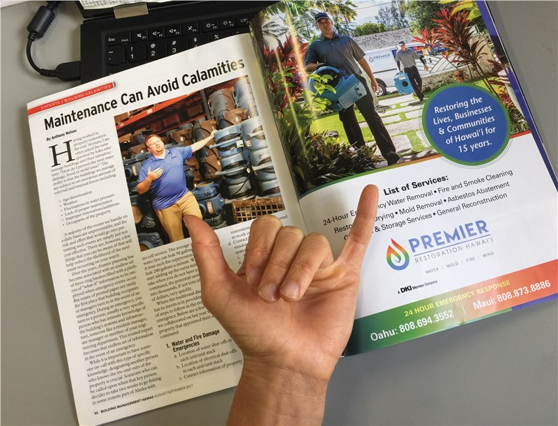 Premier in the latest Building Management Hawaii issue