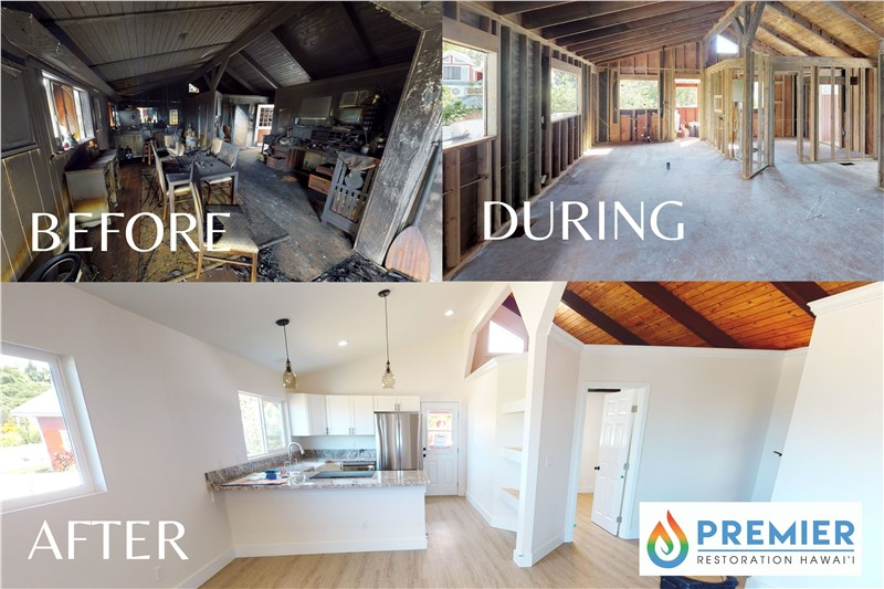 Before & After: A Maui Home's Transformation from Major Fire Damage to Brand New!