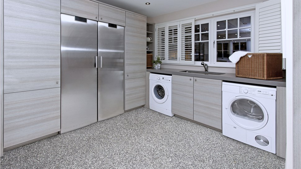 Residential Floor Coatings - Laundry Room Floor Coating Photo 1