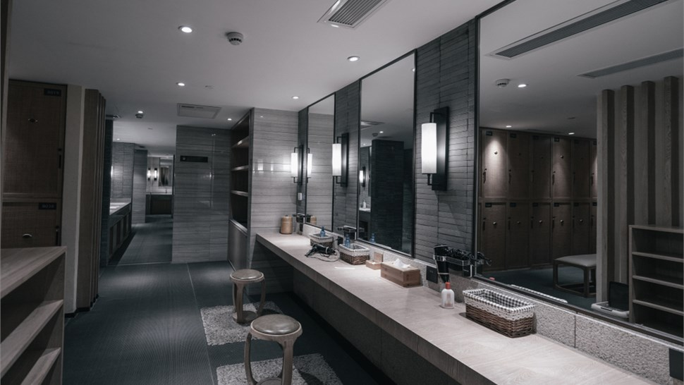 Industrial Floor Coatings - Bathroom Floor Coating Photo 1