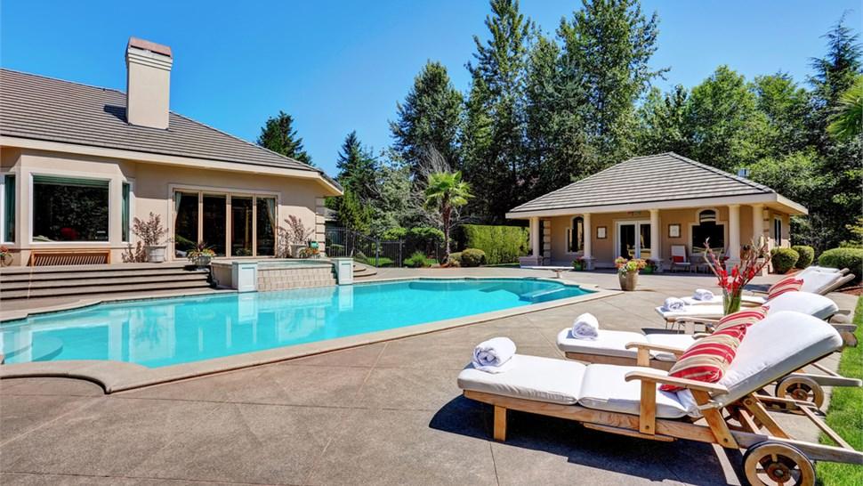 Residential Floor Coatings - Pool House Floor Coating Photo 1