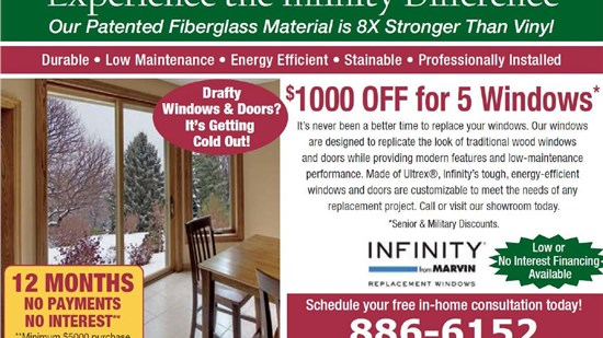 infinity by marvin replacement windows offer