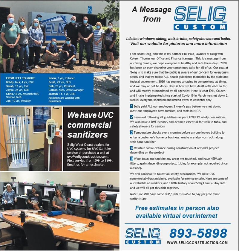 A Message from Selig Custom Construction