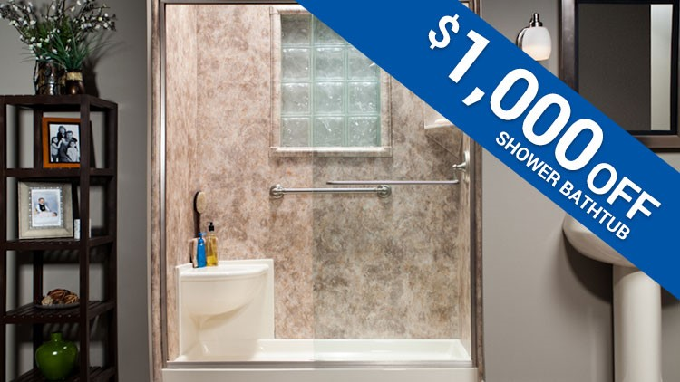 $1,000 Off Shower or Bathtub Project