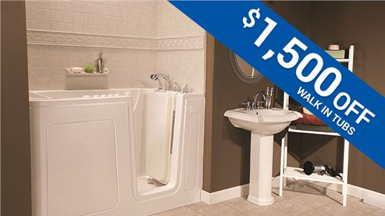 Save $1,500 on a Walk-In Tub Installation