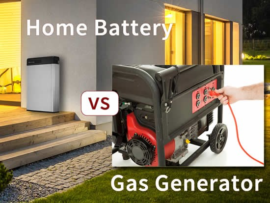 Home Battery vs. Gasoline Generators for Backup Power