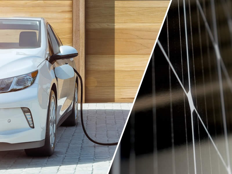 charge electric car at home with solar panels the cost