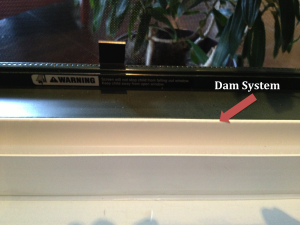 Window Dam System for window replacement