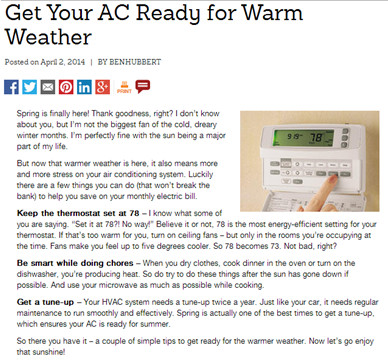 Get Your AC Ready for Warm Weather Image