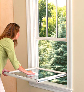 how to clean double hung windows from the inside