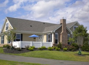 Hardie siding on home, HardiePlank siding