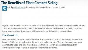 Cement Siding