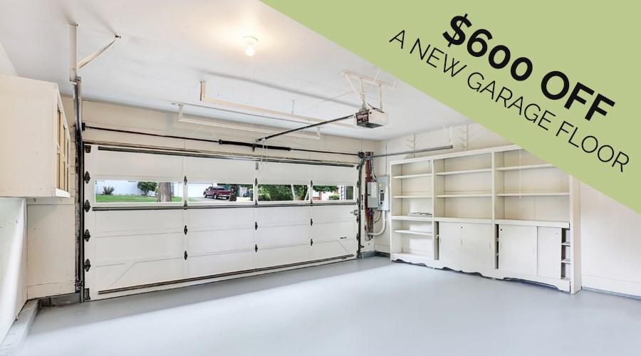 Get Up to $600 OFF a New Garage Floor