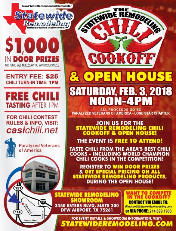 4th Annual Statewide Remodeling Chili Cookoff