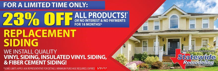 Replacement Siding Special