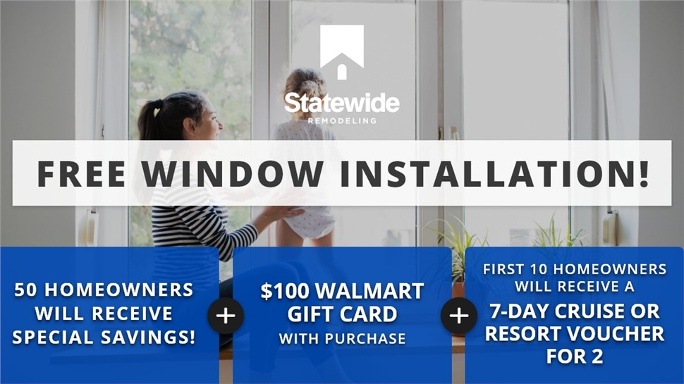 50 Homeowners Will Receive Special Savings on New Windows! | Free Installation on Houseful of Windows | 24 MONTHS 0% INTEREST!
