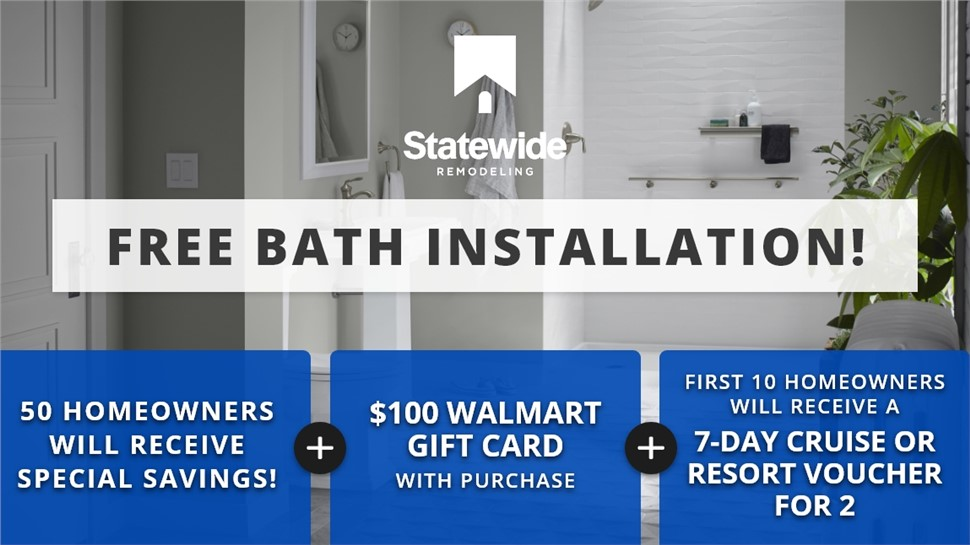 50 Homeowners Will Receive Special Savings on New Bath Or Shower!   Free Installation   24 MONTHS 0% INTEREST!