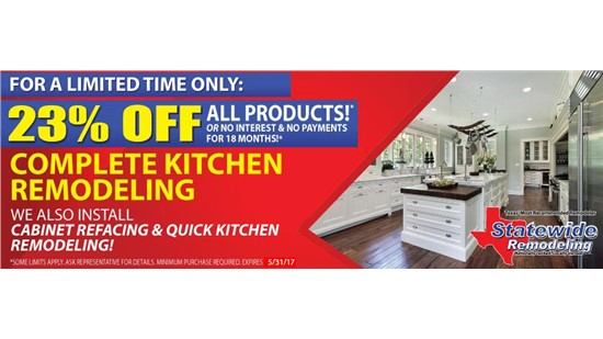 Kitchen Specials from Statewide Remodeling