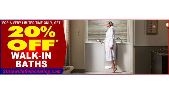 Walk-In Tub Special for Statewide Remodeling
