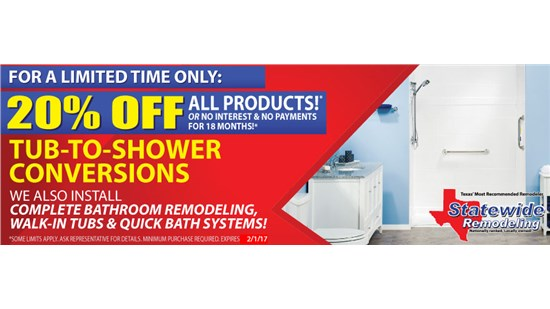 Save on a Tub-to-Shower Conversion Today!